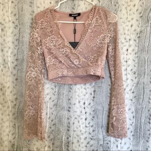 Misguided Crop Lace Top